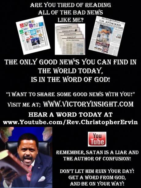 Rev. Christopher Ervin has some Good News!