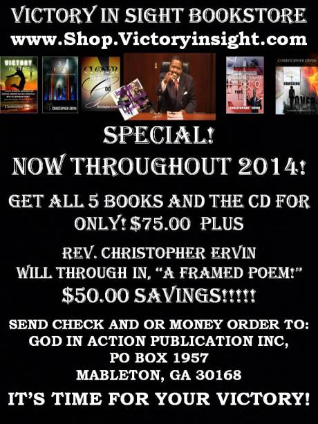 GOD IN ACTION PUBLICATIONS INC, HAS A NEW BOOKSTORE
