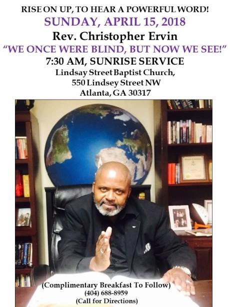 Rev. Christopher Ervin Brings the word 2